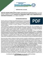 Ordenanza Sobre Tasas 2019 Sucre CONCEJO MUNICIPAL