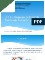 3. NR 7 - PCMSO