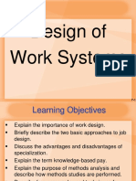 Lecture on Design of Work System