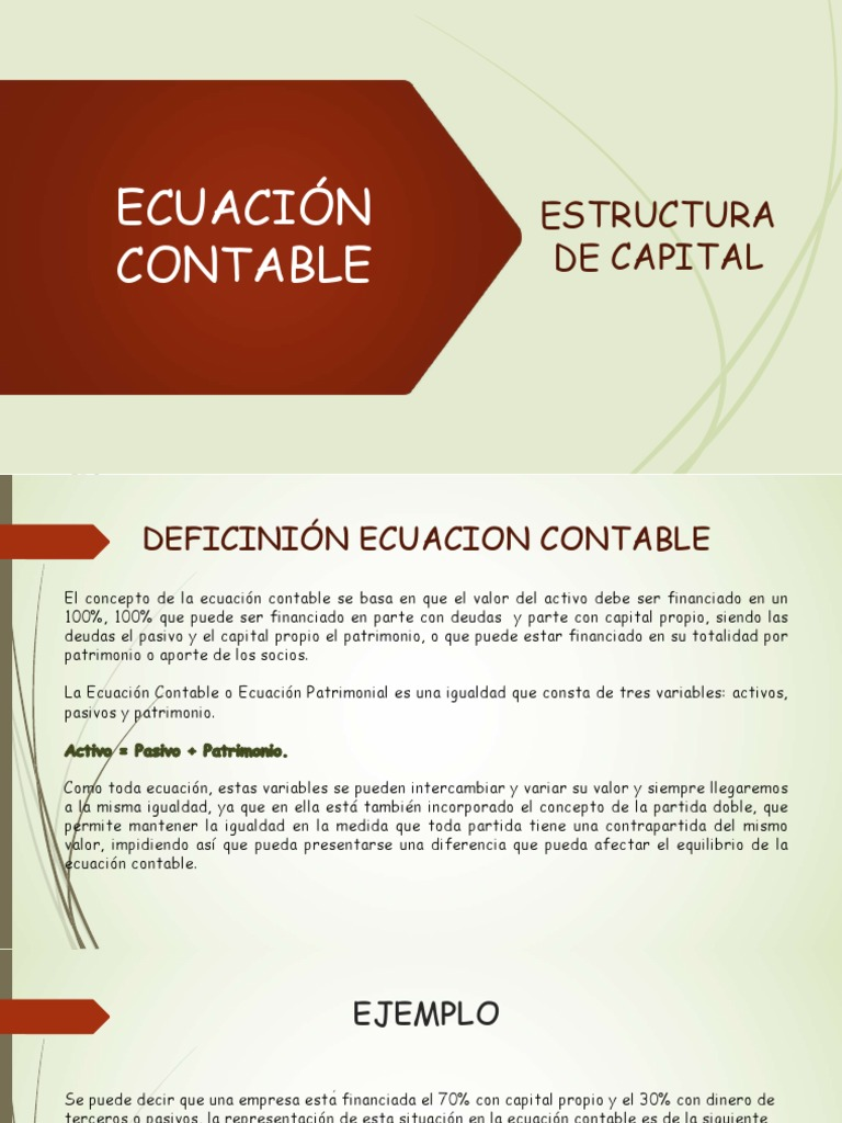 Estructura Contable Accounting Estate Law