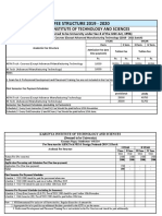 M.tech Fee Structure 2019-20 Regular