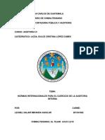 Norma Internacionales Para El Ejercicio de La Auditoria Interna