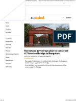 Karnataka Govt Drops Plan to Construct 6.7 Km Steel Bridge in Bengaluru