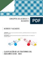 Conceptos de Acidosis y Alcalosis