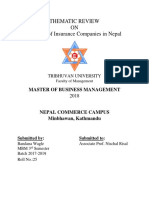 Thematic Review Prospect of Insurance Companies in Nepal