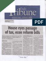 Daily Tribune, July 30, 2019, House eyes passage of tax, econ reform bills.pdf