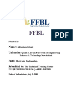 internship report FFBL in 2019