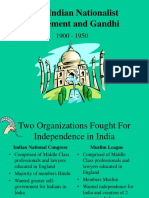 Indian Nationalist Movement and Gandhi