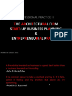 002 the Firm - Start-up Business Planning & Entrepreneurial Practice