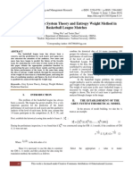 Application of Grey System Theory and Entropy Weight Method in Basketball League Matches