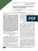 Organizational Effectiveness of Naval State University