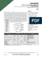 Z data sheet STA