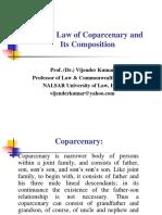 Hindu law of coparcenary