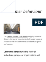 Consumer Behaviour - Wikipedia