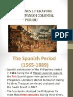 Philippines Literature During Spanish Colonial Period