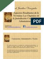 Aspectos Resaltantes de la Novísima Ley Orgánica de la Jurisdicción Contencioso Administrativa
