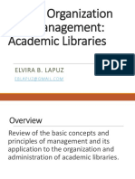 Management of Academic Libraries PATLS 2019