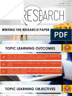 12. Writing the Research Paper