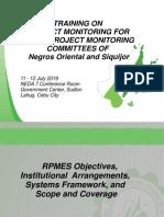 FINAL PDF Cebu Session 3_M&E Training July 2019 RPMES Obj, Insitutional Arrangments (1)