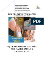 PLAN Dia Del Niño Por Nacer