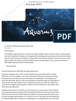 Aquarius Horoscope for July 2019 - Susan Miller Astrology Zone
