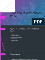 Financing of International Trade