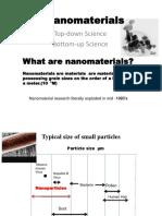 Nanomaterials Study Notes