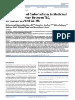 Determinationofcarbohydratesinmedicinalplants ComparisonbetweenTLCmf MELDI MSandGC MS