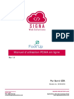 Foot'Up User Guide PCMA v1 FR