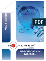 Chemicals Specification Manual