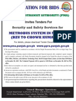43074_invites Tender for Security and Safety Services for Metrobus System in Multan