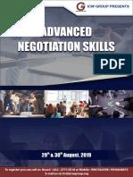 Advanced Negotiation Skills