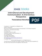 Viswanath Transnational Advertising International and Development Communication