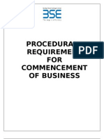 Procedural Requirement for Commencement of Business 26032010