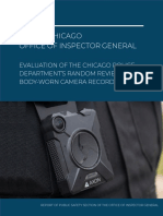CPD's Random Reviews of Body-Worn Camera Recordings