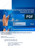 DevLabs Alliance Top 20 Java Programming Interview Questions for SDET