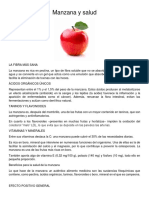 Manzana y Salud