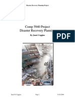 Disaster Recovery Project Plan Example PDF Template Free Download