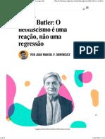 Judith Butler - O Neofascismo é Uma Reação, Não Uma Regressão