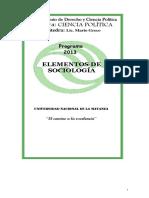 Programa de Sociologia UNLAM 2013