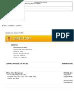 COA Contacts Directory