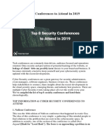 Top 8 Security Conferences to Attend in 2019