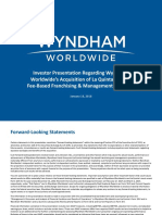 Investor Presentation_Wyndham Worldwide Acquisition of La Quinta Holdings