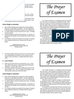 Prayer of Examen Handout