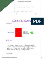 Capital Budgeting MCQs _ Accountancy Knowledge