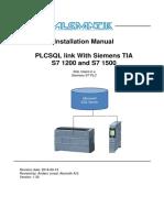 PLCSQL PLC TIA V14 Installation Manual V1 3