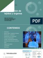 Bioimpresión de Tejidos y Órganos - Presentación