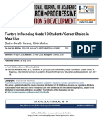 Factors Influencing Grade 10 Students' Career Choice in Mauritius