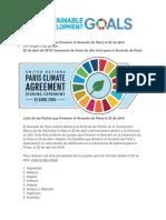 Firma Del Acuerdo de París-Cambio Climático