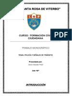 Monografia de Civica Policia de Transito y Señales